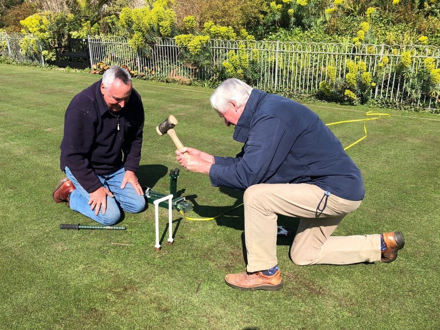 C:\Users\Brian\Documents\My Documents\Dad\Croquet Club\Chairman Newsletter\May 2019\Setting Out The Hoops.JPG